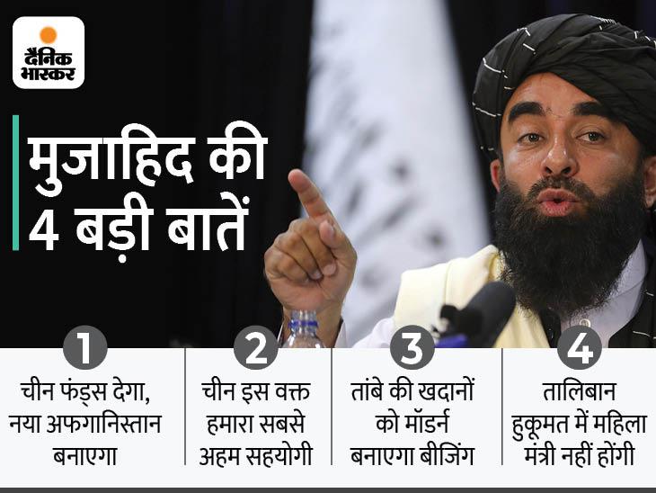 तालिबान ने कहा- मुल्क चलाने के लिए हम चीन से पैसा लेंगे, वो हमारा सबसे अहम सहयोगी|देश,National - Dainik Bhaskar