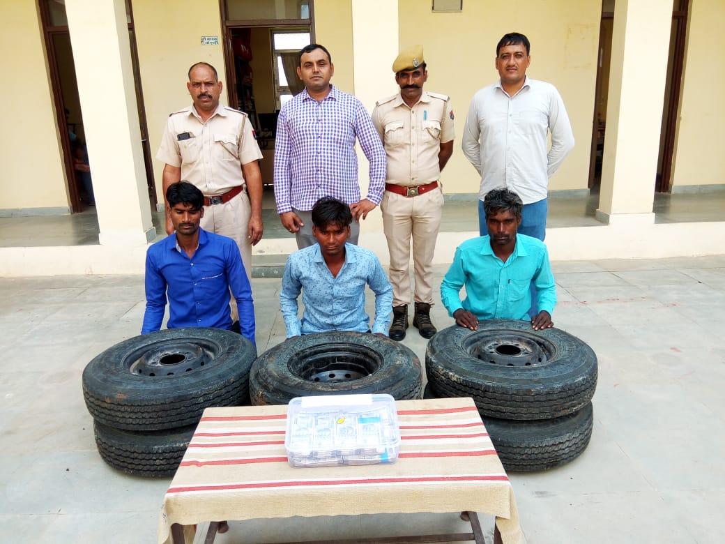 एमपी से चोरी का माल खरीदकर श्री सांवलिया जी के दर्शन करने जा रहे थे,नाकाबंदी में पकड़े गए तीन आरोपी|चित्तौड़गढ़,Chittorgarh - SN