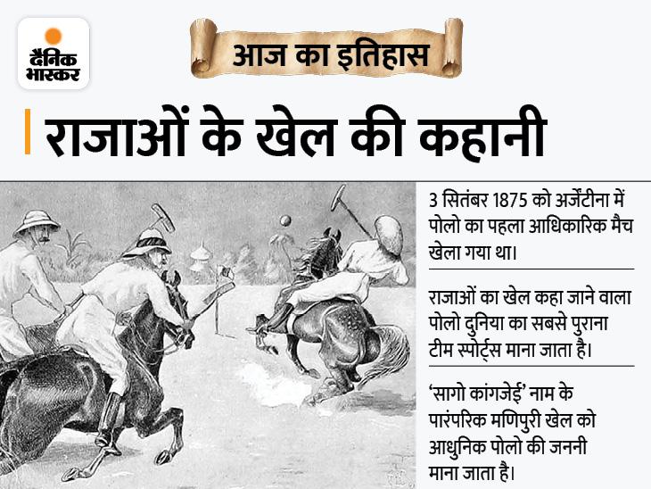 भारत से शुरू हुआ दुनिया का सबसे पुराना टीम गेम पोलो, आज ही के दिन खेला गया था पहला ऑफिशियल मैच|देश,National - Dainik Bhaskar