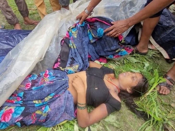सब्जी के खेत में घास काटने गई थी महिला, करंट की चपेट में आने से गई जान, शव को पत्तों से ढका बिहार,Bihar - Dainik Bhaskar