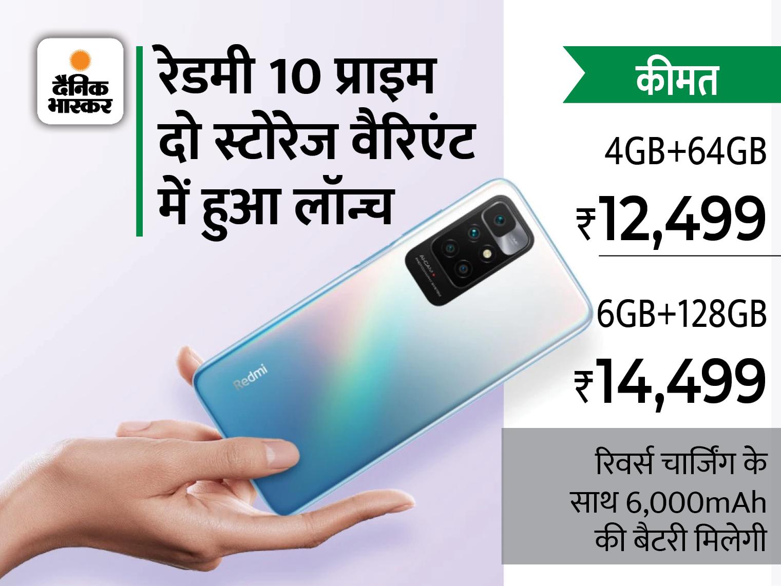 रिवर्स चार्जिंग फीचर की मदद से दूसरे डिवाइस को भी कर पाएंगे चार्ज, शुरूआती कीमत 12,499 रुपए टेक & ऑटो,Tech & Auto - Dainik Bhaskar