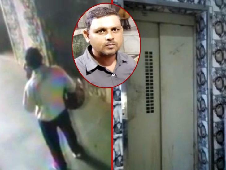 5वीं मंजिल से डोर खोलकर घुसा और ग्राउंड फ्लोर पर गिरा, 7वीं मंजिल से आ रही थी लिफ्ट के नीचे दबा; CCTV में कैद घटना|आगरा,Agra - Dainik Bhaskar