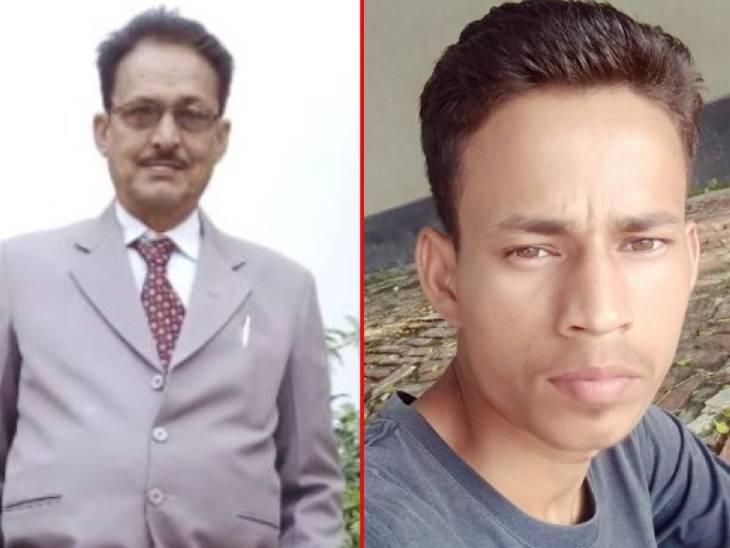 बाएं से वकील अशोक कुमार सिंह और कुतुबुद्दीन। - Dainik Bhaskar