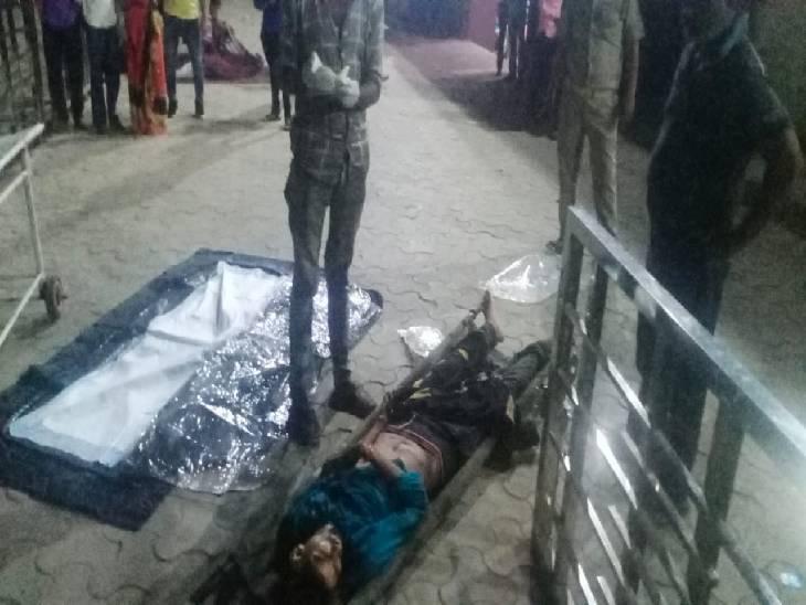 दोस्तों के मजदूरी करने जा रहा था युवक, सही समय पर अस्पताल न पहुंचने के कारण हुई मौत|ललितपुर,Lalitpur - Dainik Bhaskar