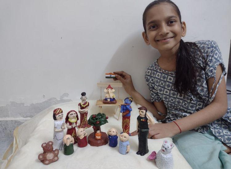 टीवी, मोबाइल से दूर रहकर लॉकडाउन में सीखा हूनर, इसके हाथ से बनाए खिलौने-मूर्तियां डिमांड में पाली,Pali - Dainik Bhaskar