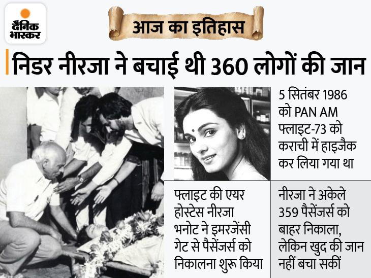 लोगों की जान बचाने के लिए शहीद हुई भारत की बहादुर बेटी नीरजा, उनकी वीरता के लिए भारत-पाकिस्तान ही नहीं अमेरिका ने भी सम्मानित किया|देश,National - Dainik Bhaskar