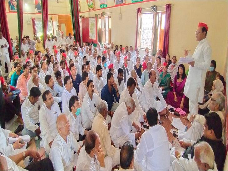 लगातार बढ़ रही मंहगाई, बेरोजगारी, जाति, धर्म के नाम पर प्रदेश की जनता को लड़ाना चाहती है भाजपा|आजमगढ़,Azamgarh - Dainik Bhaskar