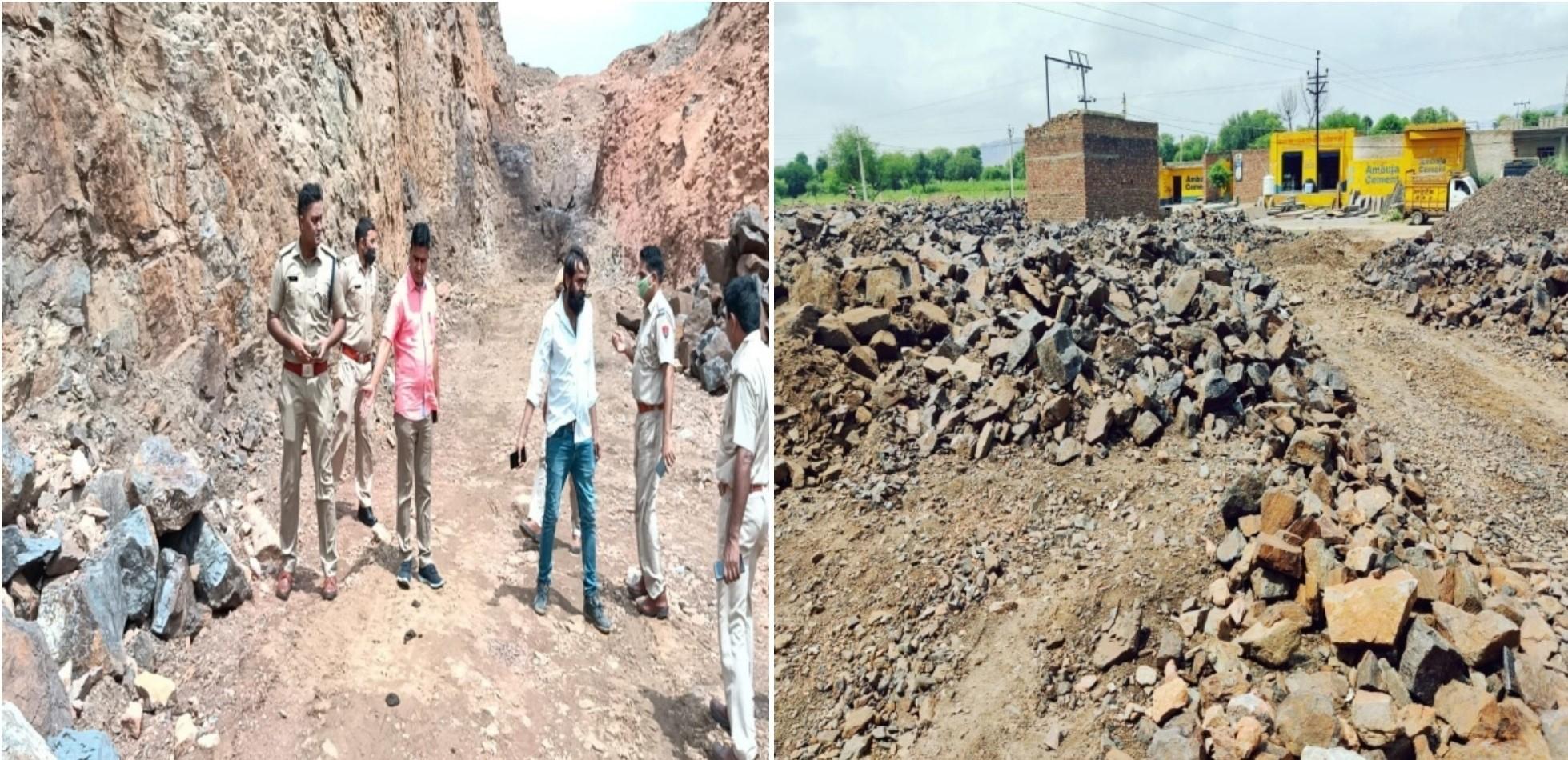 700 टन से अधिक आयरन युक्त कीमती पत्थर जब्त, 5 डंपर जब्त, कीमत 15 से 20 लाख के आसपास|झुंझुनूं,Jhunjhunu - Dainik Bhaskar