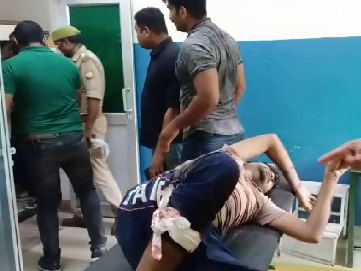पैर में गोली मारकर 25 हजार का इनामी दबोचा, साथी मौके से फरार बांदा,Banda - Dainik Bhaskar