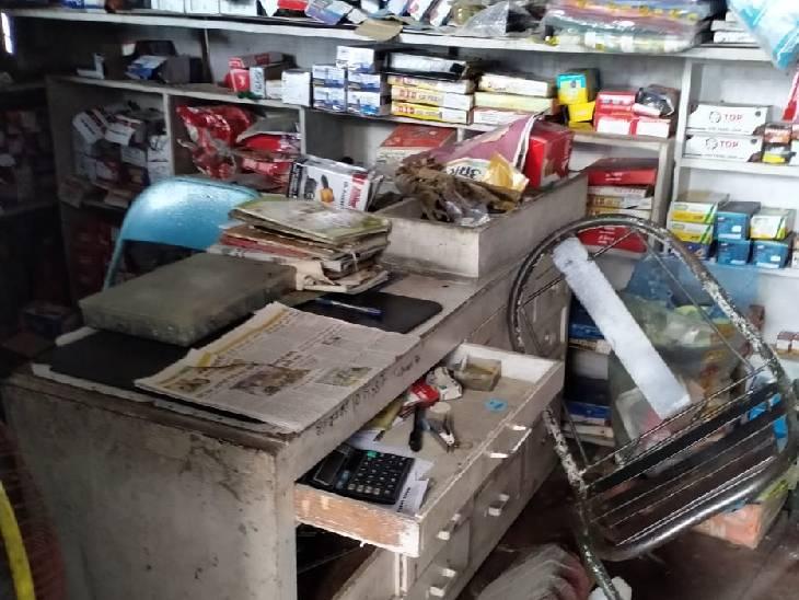 घर में चल रही थी दुकान, ताला तोड़कर नगदी सहित सामान गायब|देवरिया,Deoria - Dainik Bhaskar