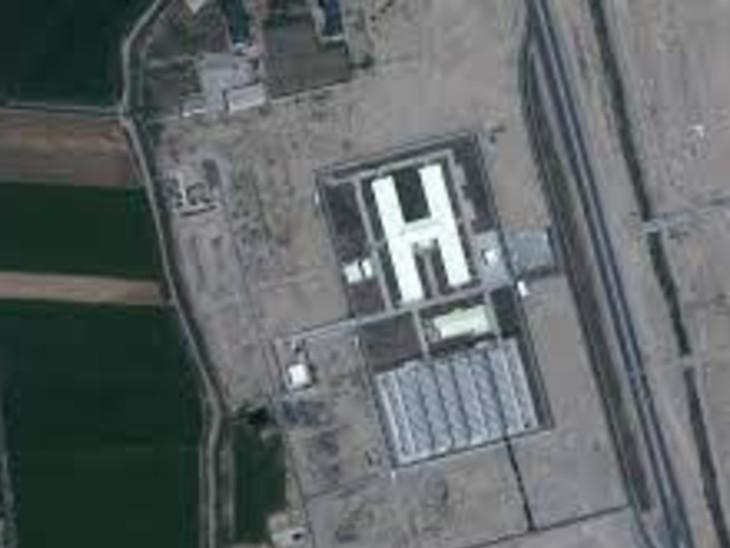 उज्बेकिस्तान में बने शरणार्थी कैंप की सैटेलाइट तस्वीर।