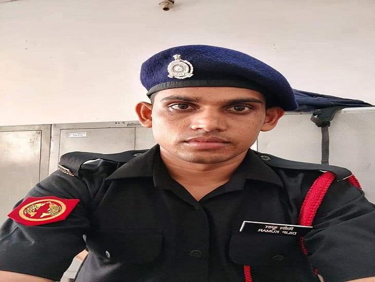 बाइक का संतुलन बिगड़ने से हुआ हादसा,पुलिसकर्मी दोस्त भी गंभीर घायल, मेरठ में पोस्टेड था जवान|उदयपुर,Udaipur - Dainik Bhaskar