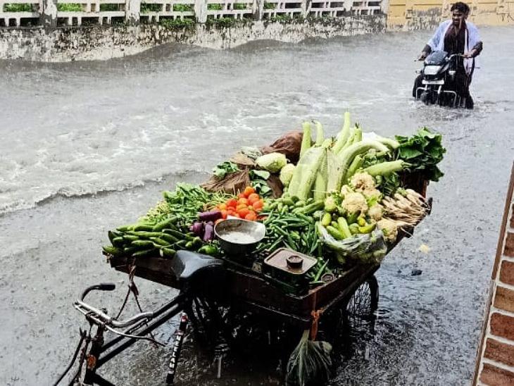 मुरादाबाद में मानसरोवर और लाइनपार इलाके में जलभराव, रामपुर में भी कई इलाकों में भरा पानी|मुरादाबाद,Moradabad - Dainik Bhaskar