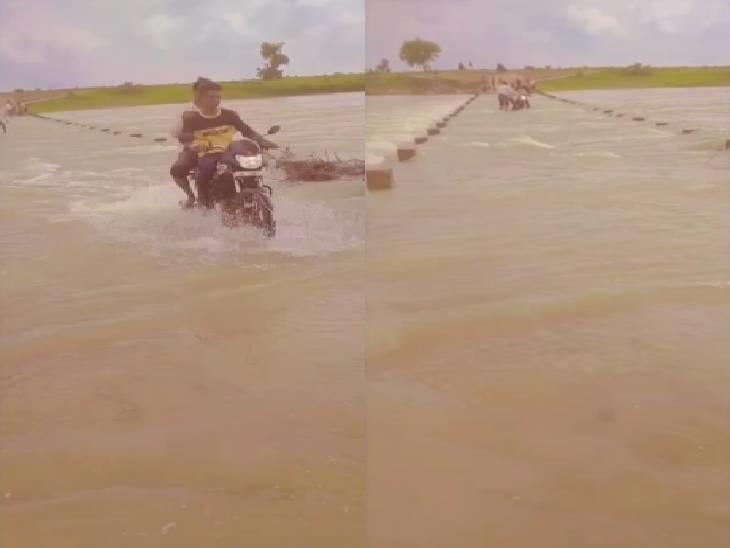 ग्रामीण जान जोखिम में डाल पार कर रहे हैं पुल, बड़े हादसे की आशंका शिवपुरी,Shivpuri - Dainik Bhaskar