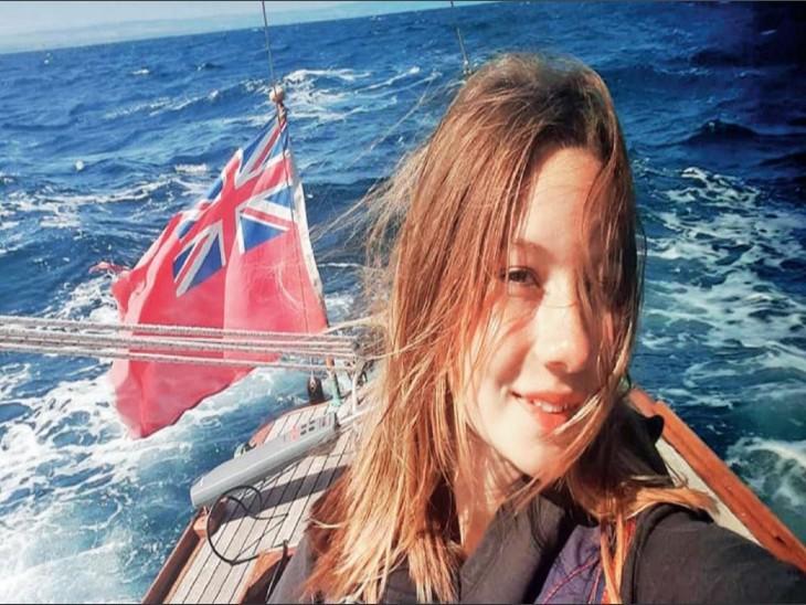 14 साल की कैटी; बोट से दो माह में 2900 किमी सफर किया, सोलो ट्रैवल करने वाली ब्रिटेन की सबसे युवा विदेश,International - Dainik Bhaskar
