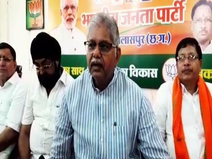 नेता प्रतिपक्ष धरमलाल कौशिक ने कांग्रेस से पूछा- कांग्रेस बयान का समर्थन करती है या नहीं;ब्राह्मण समाज के लोगों ने किया थाने का घेराव|बिलासपुर,Bilaspur - Dainik Bhaskar