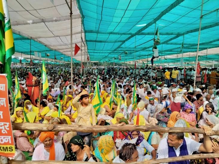 दावा है कि 6 लाख किसान इस आंदोलन में शामिल हुए।