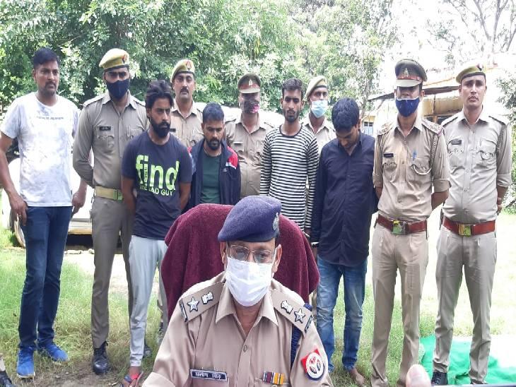 बुलंदशहर में ऑनलाइन साइट पर चोरी के वाहन बेचने वाले चार चोरों को पुलिस ने किया गिरफ्तार, असली कागजात दिखाकर खुद को बताते थे गाड़ियों का मालिक बुलंदशहर,Bulandshahr - Dainik Bhaskar