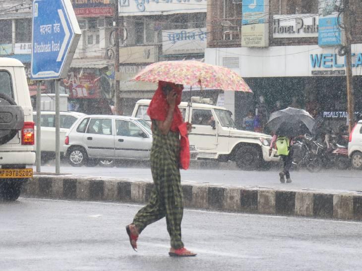 मानसून ट्रफ के ग्वालियर-सतना तक आने से रुक-रुककर पानी गिरना शुरू; भोपाल, इंदौर में हल्की बारिश, 5 शहरों में अलर्ट|मध्य प्रदेश,Madhya Pradesh - Dainik Bhaskar