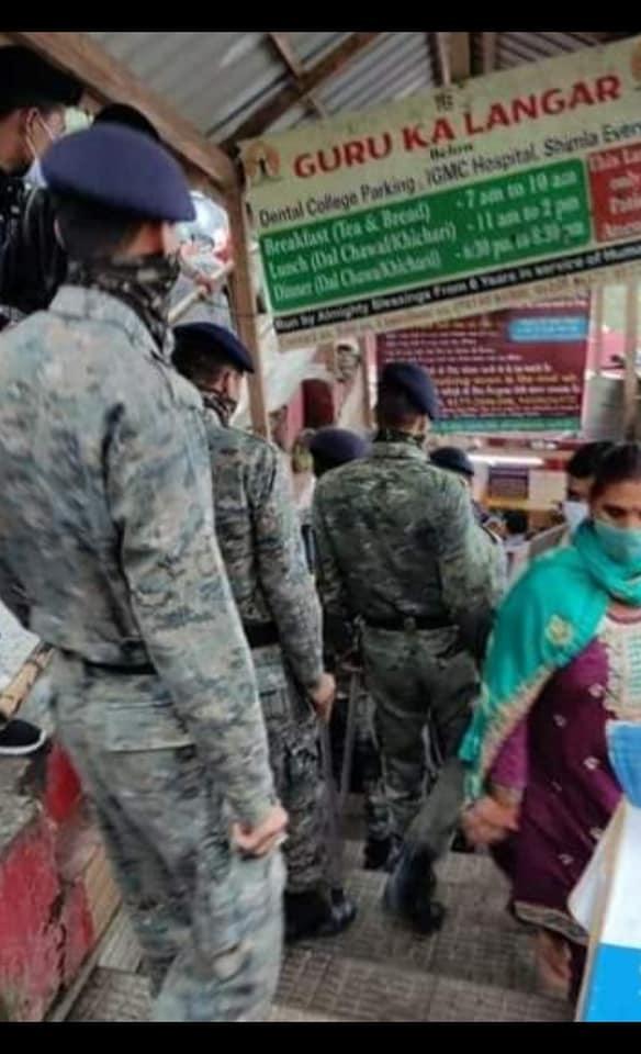 लंगर खाली करवाने के लिए जाती शिमला पुलिस की क्यूआरटी