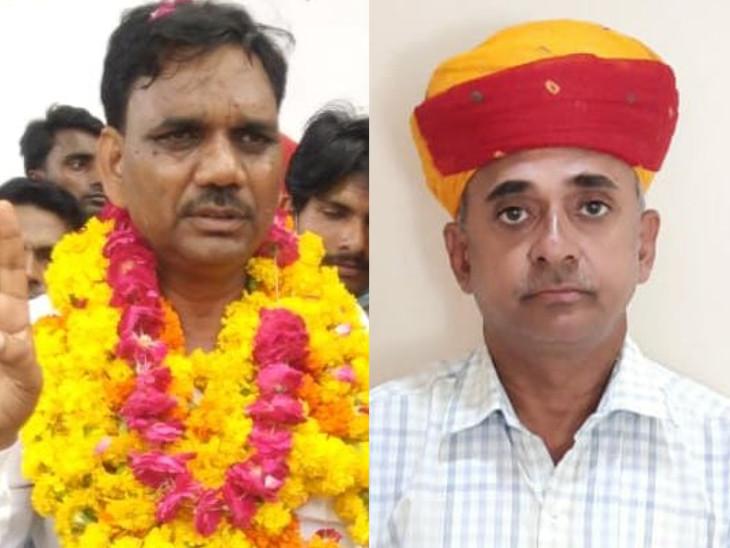 दौसा जिला प्रमुख का चुनाव जीतने वाले हीरालाल सैनी और सिरोही से जिला प्रमुख का चुनाव जीते अर्जुन पुरोहित।