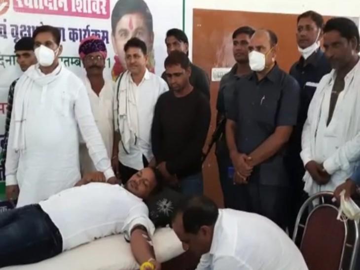 सचिन पायलट के जन्मदिन के उपलक्ष में रक्तदान शिविर। - Dainik Bhaskar