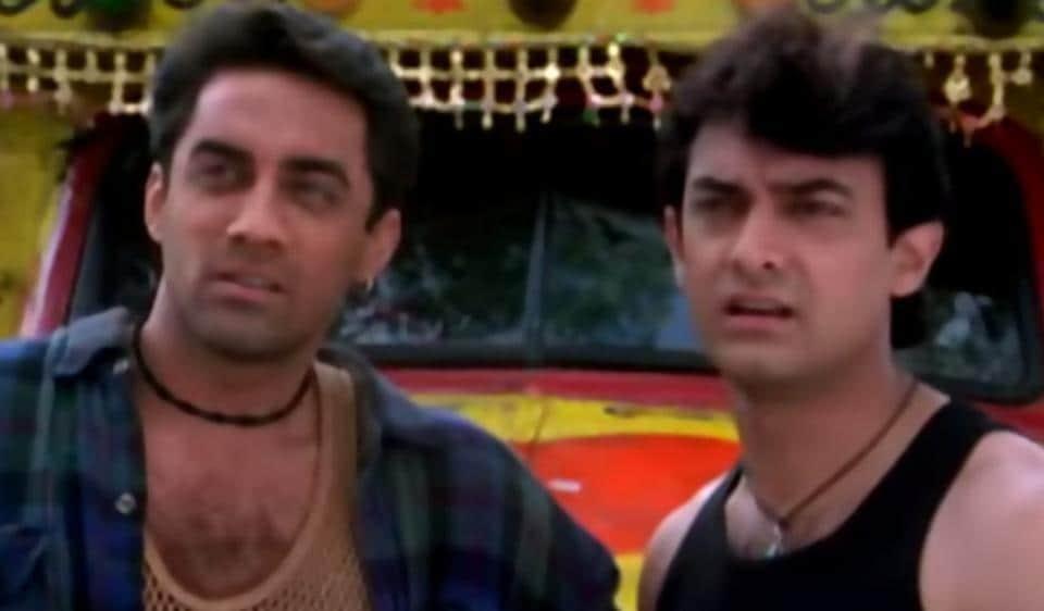 फिल्म 'मेला' में आमिर और फैजल खान।