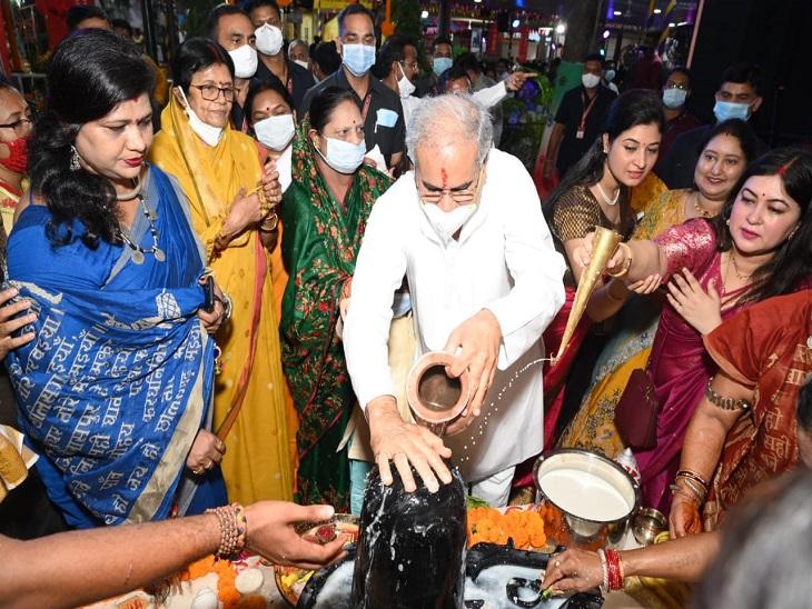 सीएम हाउस बना तिजहारिनों का मायका, मुख्यमंत्री ने महिला विधायकों-सांसदों के साथ की पूजा; महिला स्व-सहायता समूह का 13 करोड़ कर्ज माफ|रायपुर,Raipur - Dainik Bhaskar