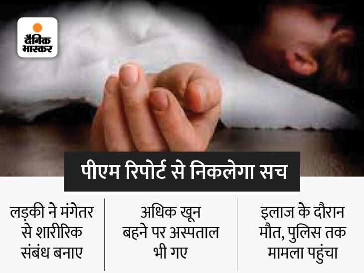 मंगेतर से फिजिकल रिलेशन बनाए थे, होने लगी ब्लीडिंग; डॉक्टर को दिखाया पर नहीं बची जान, पुलिस ने संदिग्ध हालात में मौत की जांच शुरू की|भोपाल,Bhopal - Dainik Bhaskar