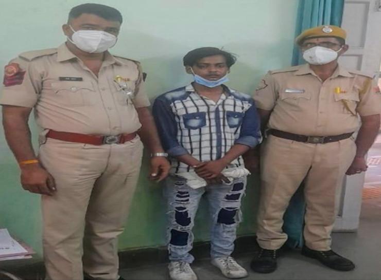 पिता से बेइज्जती का बदला लेने के लिए शनि मंदिर में मूर्ति का किया अपमान, बेटा गिरफ्तार|जयपुर,Jaipur - Dainik Bhaskar