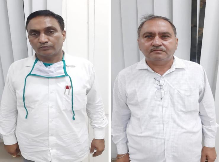 35 लाख के बिल पास करने के लिए मांगे 45 हजार रुपए, ACB पकड़ने पहुंची तो आरोपियों की कार में मिले 3.30 लाख रुपए|जयपुर,Jaipur - Dainik Bhaskar