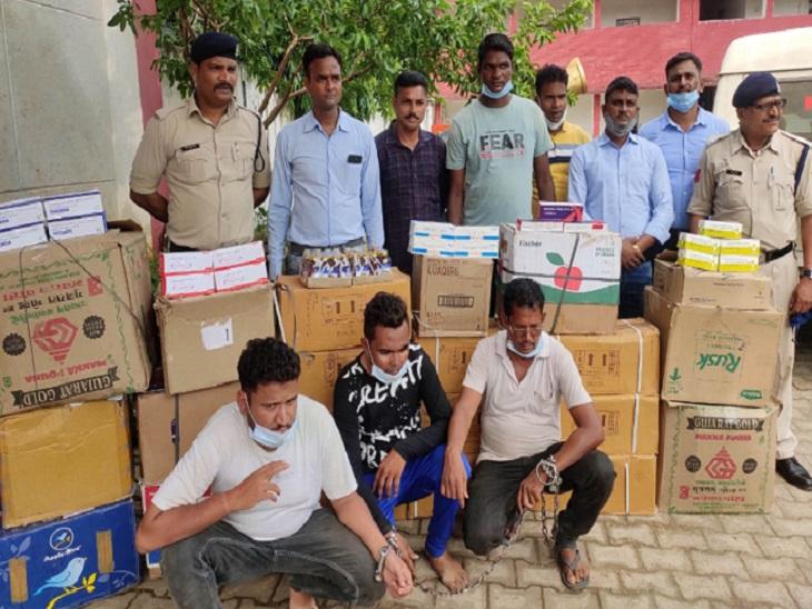 दुर्ग पुलिस ने 3 को पकड़ा, सरगना भाग निकला; धमतरी से लाते थे बेचने के लिए, साढ़े 4 लाख से ज्यादा नशीली गोलियां बरामद|भिलाई,Bhilai - Dainik Bhaskar
