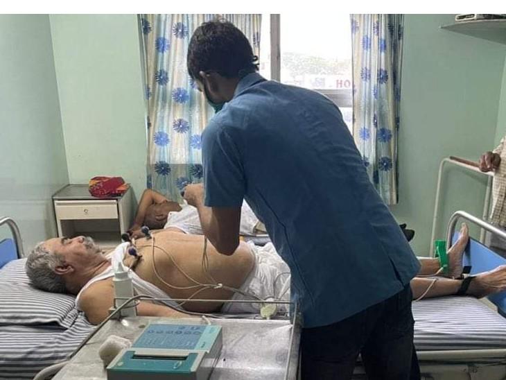 बेटी को जिला प्रमुख का टिकट दिलाने में नाकाम रहे जाखड़ का बीपी बढ़ा, शुगर घटी, अस्पताल में भर्ती|जोधपुर,Jodhpur - Dainik Bhaskar