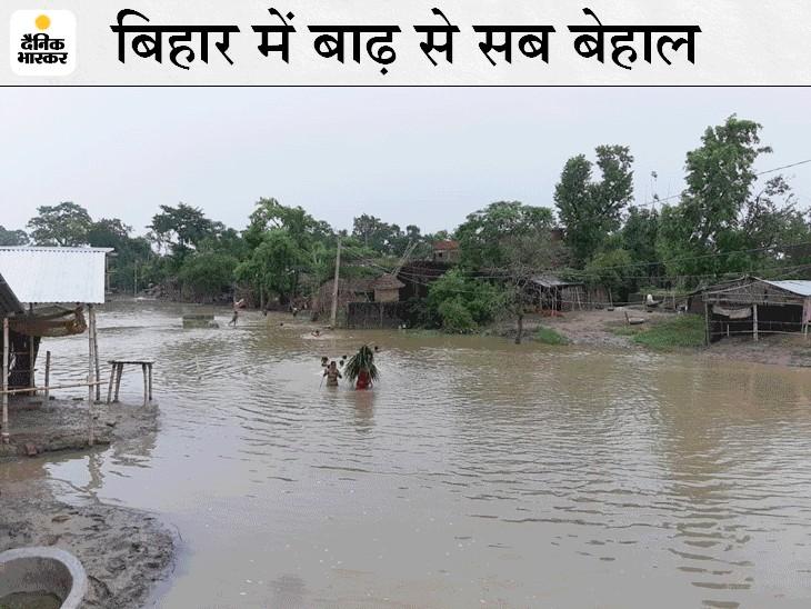 6 सदस्यीय केंद्रीय टीम आज पहुंच रही, 2 दिनों तक निरीक्षण कर बाढ़ से हुए नुकसान का करेगी आकलन; बाढ़ से अब तक 53 की मौत|बिहार,Bihar - Dainik Bhaskar