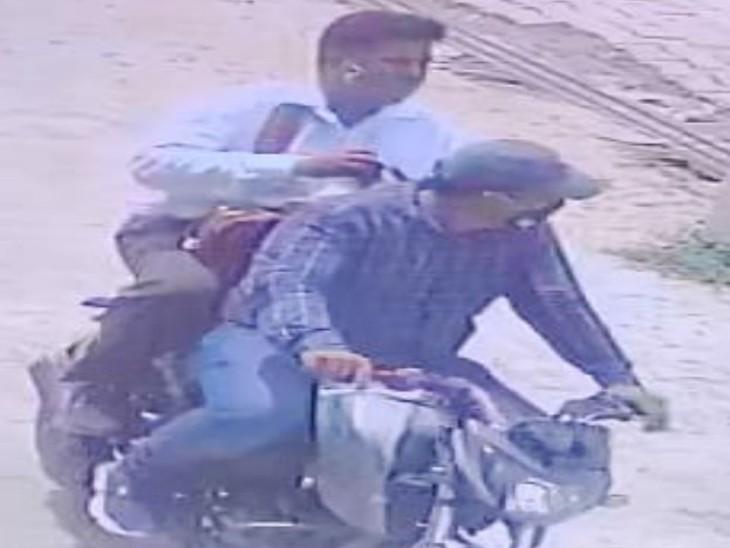 हरियाणा के पलवल में CCTV में कैद हुए आरोपी। - Dainik Bhaskar