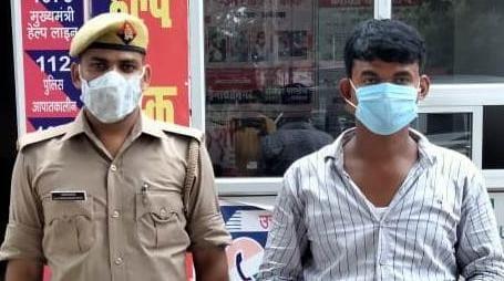 अयोध्या के इनायतनगर थाने में पकड़ा गया छह माह से फरार चल रहा गो तस्कर मुख्तार - Dainik Bhaskar