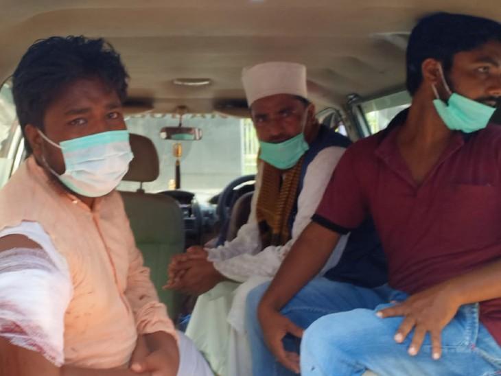 बरुराज थाना क्षेत्र में वारदात, हाथ मे लगी है गोली, बाइक लूटकर भाग निकले 2 अपराधी, SKMCH में भर्ती|बिहार,Bihar - Dainik Bhaskar