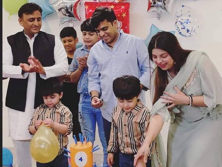 तेज प्रताप यादव के पुत्र जय हर्षवर्धन यादव का जन्मदिन का कार्यक्रम आयोजित था।