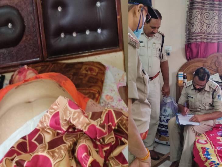 रात भर दोनों झगड़ते रहे, फिर पति ने सिर पर हथौड़ा मार कर हत्या कर दी, सुबह मिली लाश जबलपुर,Jabalpur - Dainik Bhaskar
