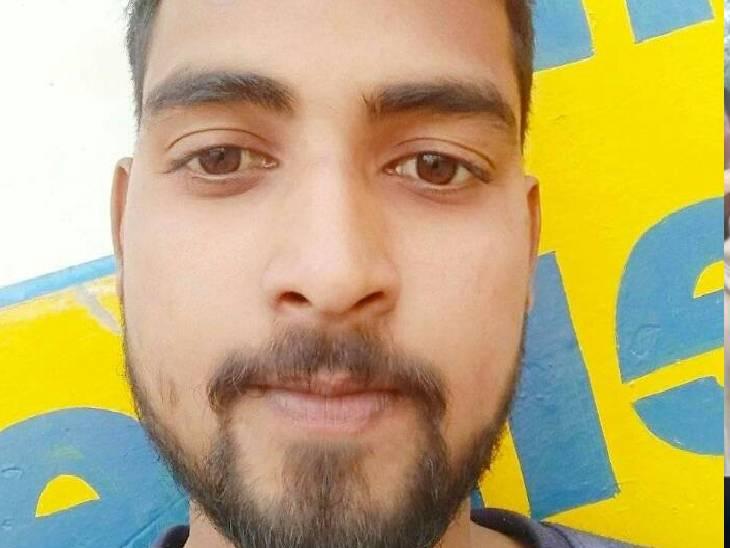 हादसे में बाइक सवार की मौत हो गई। - Dainik Bhaskar