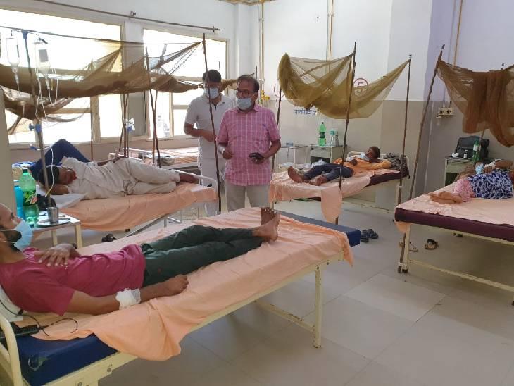 अस्पतालों में भी मच्छरदानी का प्रयोग हो रहा है।