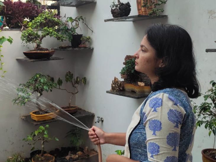 पूर्णिमा जोशी ने अपने पिता से बोनसाई प्लांट डेवलप करने की तकनीक सीखी है। पिछले तीन साल से वे बोनसाई प्लांट का स्टार्टअप चला रही हैं।