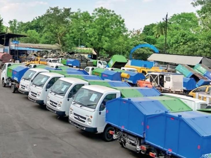 कचरा कलेक्शन के लिए निगम के पास 25 सीएनजी वाहन; पहले खरीदी में डेढ़ करोड़ बचाए, अब सालाना होगी 65 लाख की बचत|भोपाल,Bhopal - Dainik Bhaskar