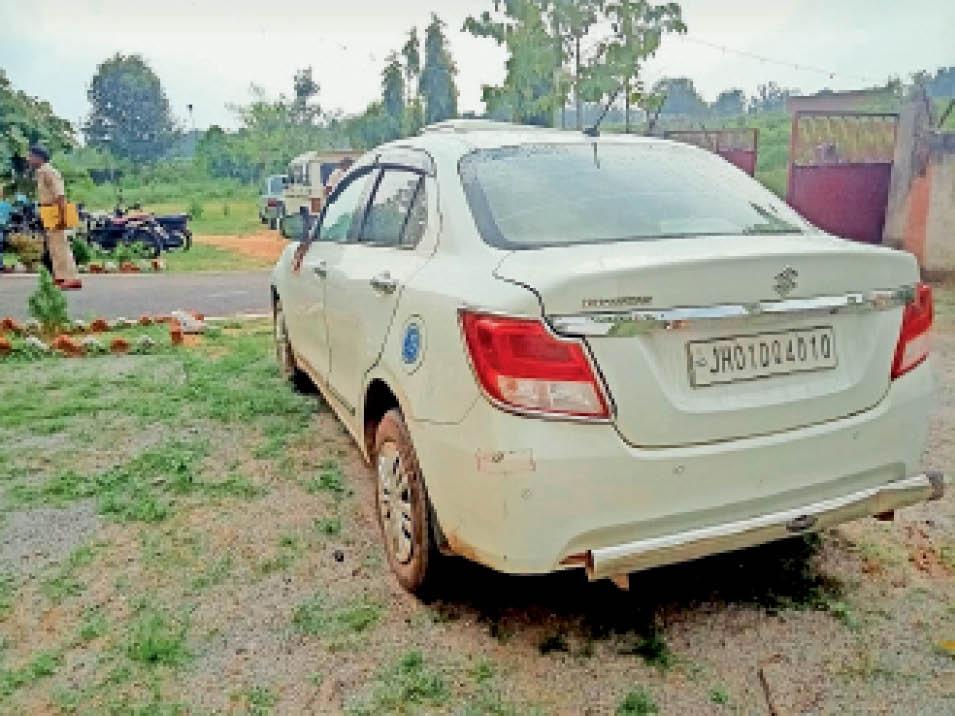जब्त कार की तस्वीर। - Dainik Bhaskar