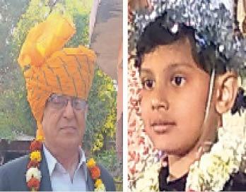 मृतक देवेंद्र जैन व उनका पोता निमित जैन - Dainik Bhaskar