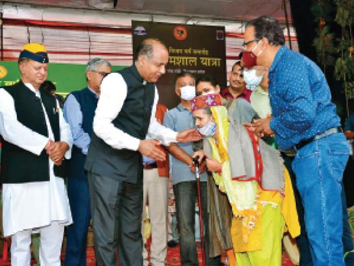 मुख्यमंत्री जयराम ठाकुर ने 1971 के युद्ध सैनिकों के परिजनों को किया सम्मानित|शिमला,Shimla - Dainik Bhaskar