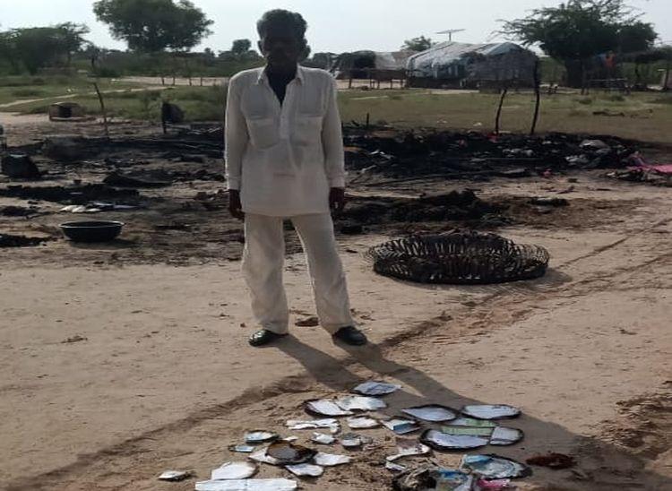 6 मेमने, 21 चूजे जिंदा जले, परिवार गया हुआ था मजदूरी पर, वरना होता बड़ा हादसा|पाली,Pali - Dainik Bhaskar