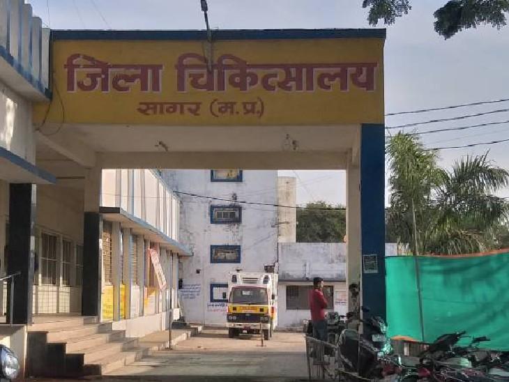 जिला अस्पताल में ऑक्सीजन सप्लायी लाइन का कर रहा था काम, करंट की चपेट में आने से हुई मौत सागर,Sagar - Dainik Bhaskar