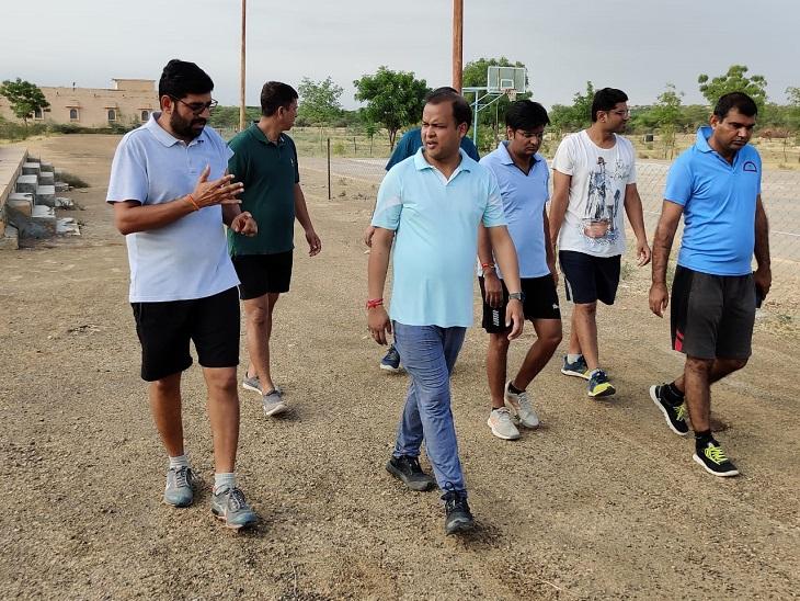 खिलाड़ियों को आवास और मैदान में नहीं होगी कोई असुविधा; आयुक्त को बिल्डिंग रिपेयरिंग के दिए निर्देश|जैसलमेर,Jaisalmer - Dainik Bhaskar