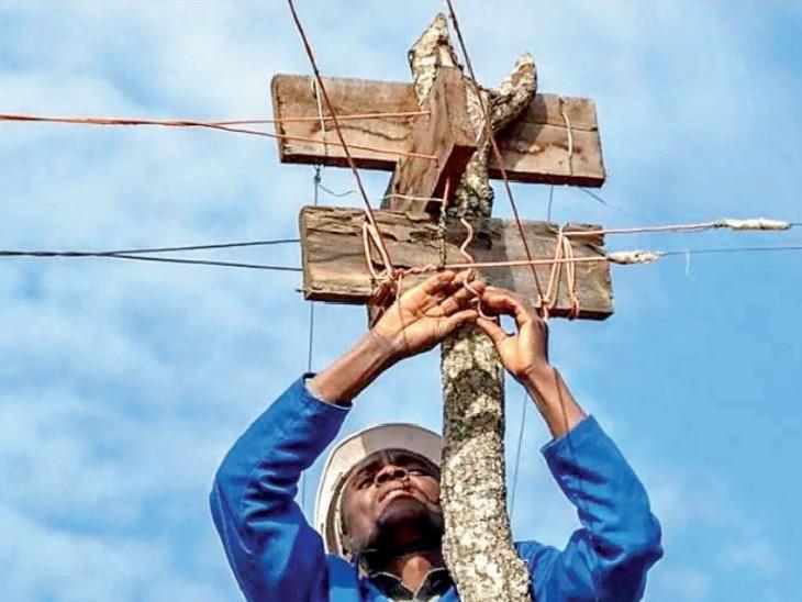 बॉलीवुड फिल्म 'स्वदेश' की तर्ज पर अफ्रीकी युवक ने रोशन किया गांव; 150 घरों को बिजली मिल रही|विदेश,International - Dainik Bhaskar
